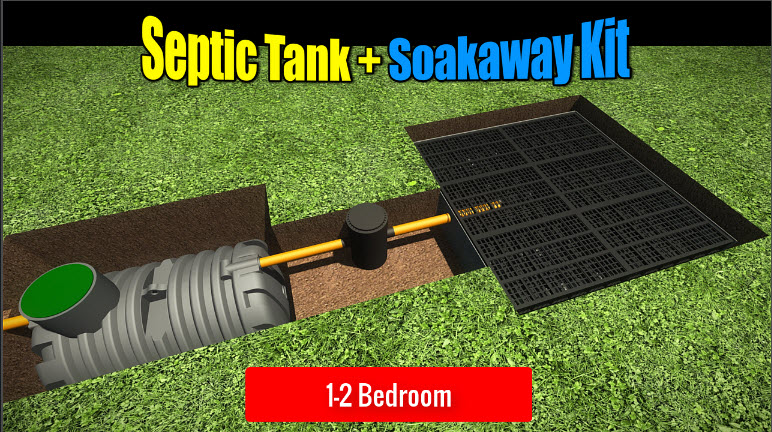 Septic Tank Soakaway 1-2 Bedroom