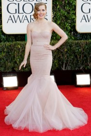 Actress Amy Adams poses as she arrives at the 70th annual Golden Globe Awards in Beverly Hills