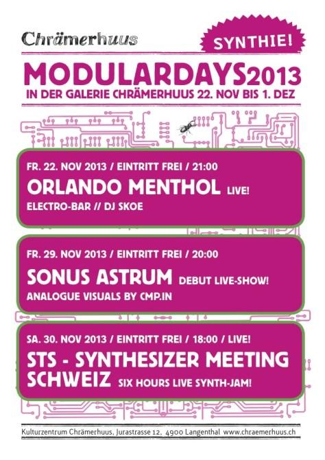 Forum • 22.11-1.12 Modulardays in Langenthal/Schweiz