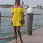 Yellow Off The Shoulder Dress in Key West