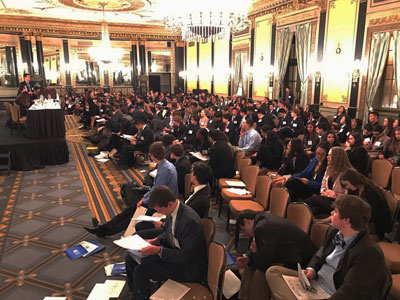 Model UN Delegates Attend International Conference