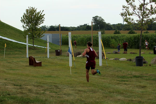 Sequoit runner Charlie Smith adds to his lead Tuesday against the Richmond Burton Comets.