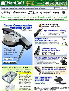 IWantGolf newsletter