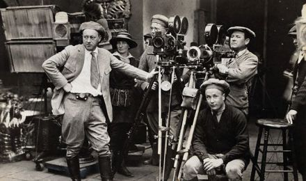 Director Cecil B. DeMille and Film Crew