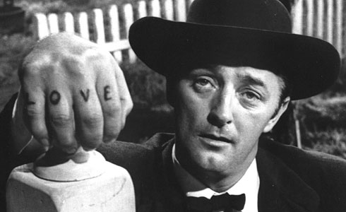 Robert Mitchum in Night of the Hunter, 1955.