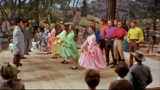 The barn raising dance sequence, Seven Brides for Seven Brothers, 1954.