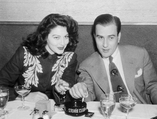 Ava Gardner and Artie Shaw at the Stork Club in New York, March 5, 1945.