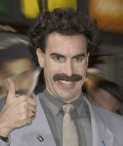 "Borat say: ""Me like Zionist conspiracy because of hot chicks in uniform!"""