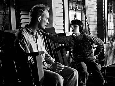 Robert Duvall as Boo Radley and Mary Badham as Scout in To Kill a Mockingbird, 1962.