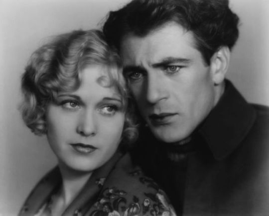 "Esther Ralston and Gary Cooper in ""Batrayal"", 1929."