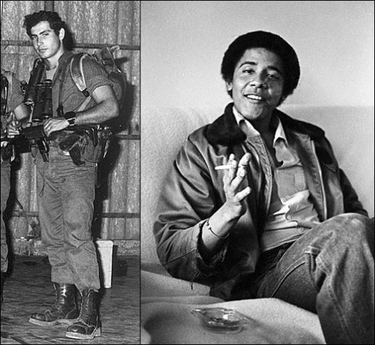 Okay, kids, compare and contrast: Bibi Netanyahu was a decorated soldier in the IDFs special forces. Barack Hussein Obama was   chooming.