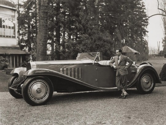 Jean Bugatti with his personal 1932 Royale. They really, really don't make 'em like they used to.