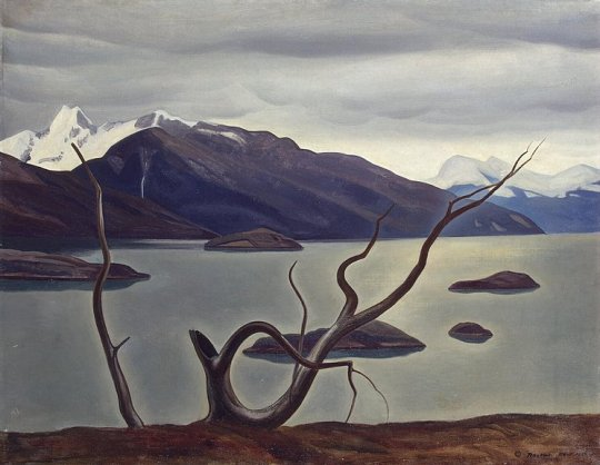 Rockwell Kent Admiralty Inlet, 1922 Oil on cardboard 33 x 44""