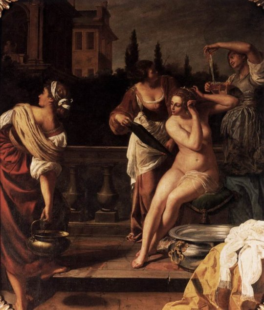 Artemesia Gentileschi, Bathsheba Bathing,  oil on canvas, 258 × 218 cm, 1650.