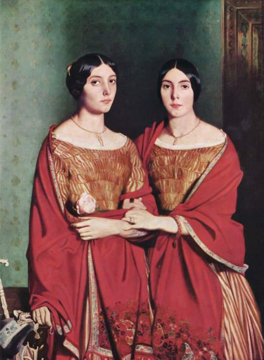 """Theodore Chassériau, """"The Two Sisters,"""" 1843, oil on canvas 71 X 53"""