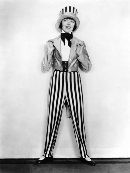Silent film star Colleen Moore as Uncle Sam, 1923. F. Scott Fitzgerald commented that Colleen Moore represented the Flapper of the Roaring 20s..