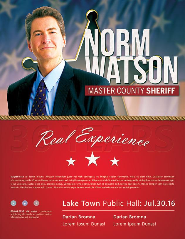 Political Flyer Sheriff-race-political-flyter-template