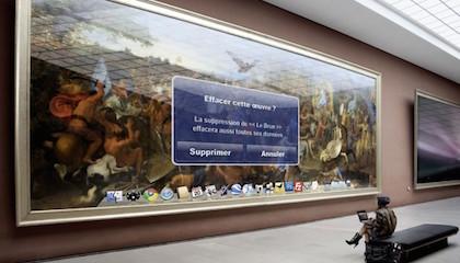 Léo Caillard, 2015, série ''virtual Louvre'' © Léo Caillard