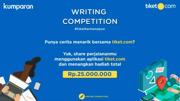 Writing Competition Tiket Kemanapun