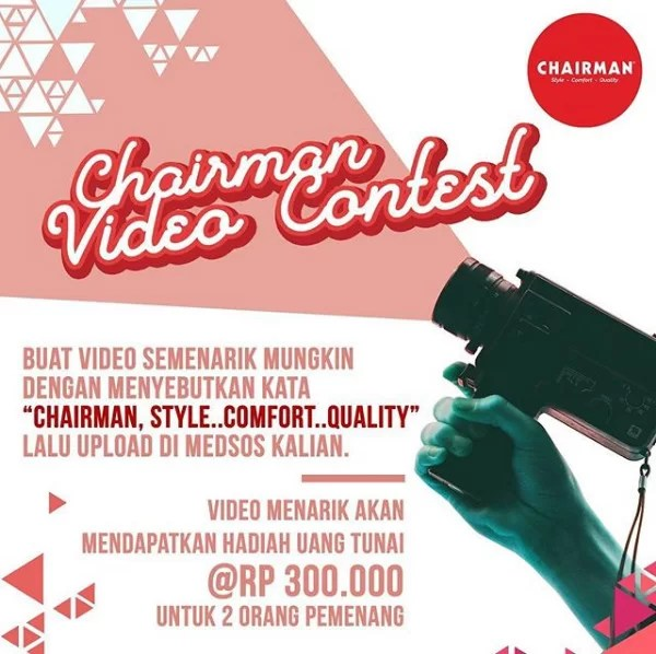 Chairman Video Contest -Chairman Style Comfort Quality