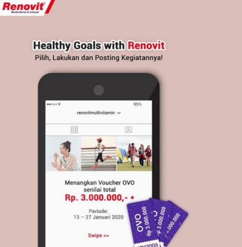 Kontes Healthy Goals Renovit Berhadiah Voucher OVO Total 3 Juta