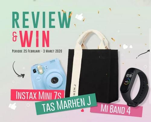 Kontes Review Miranda-Victoria Berhadiah Mi Band 4, Tas Marhen J & Instax Mini