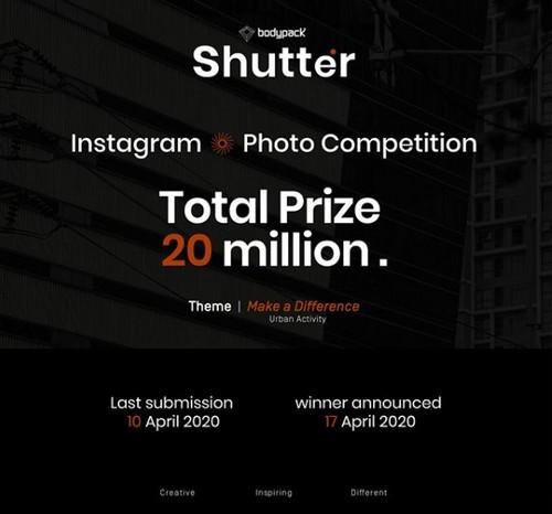 Lomba Foto Shutter Bodypack Berhadiah Uang & Produk Total Rp 23 Juta