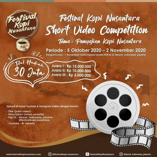 Short Video Competition Festival Kopi Nusantara 2020