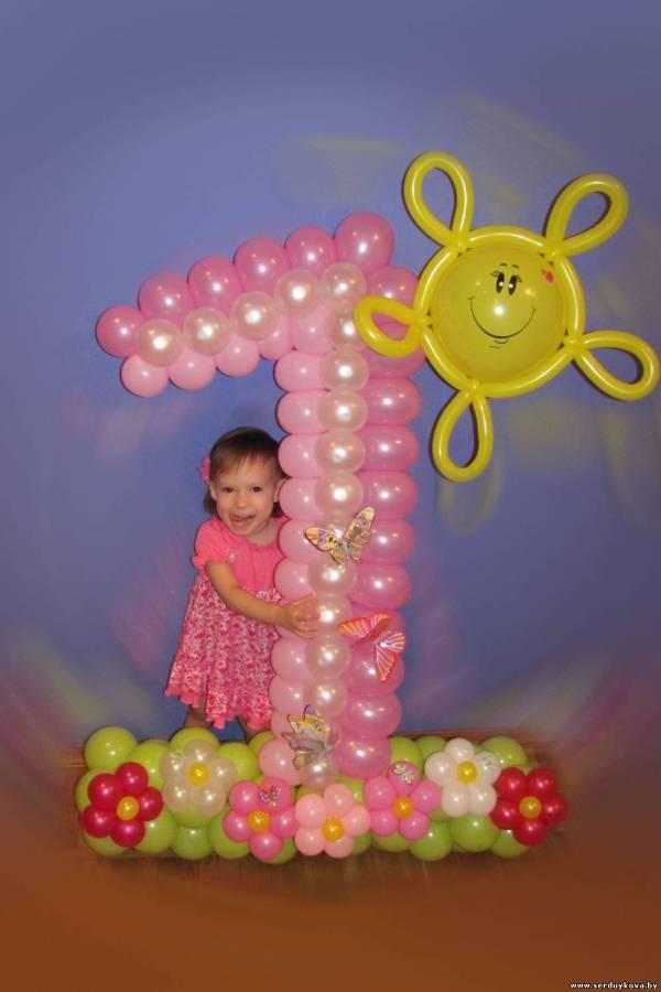 Цифра из воздушных шаров №47 минск, купить, цены, фото ...