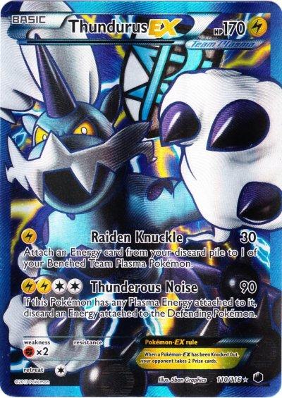 White Card Pokemon And Images Black Ex Thundurus