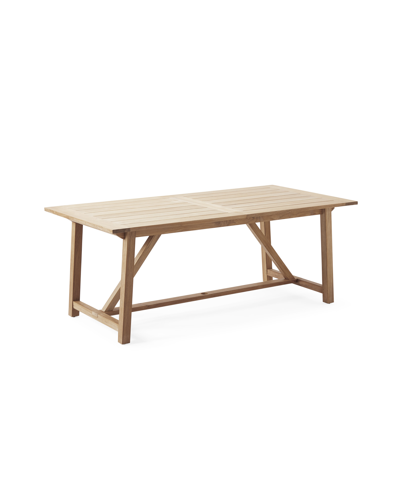 Crosby Teak Expandable Dining Table Natural Serena Lily