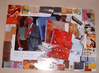 Collage autour du thème du carnet de voyage