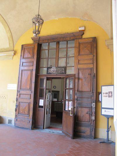 Bibliothèque de Pavie : entrée