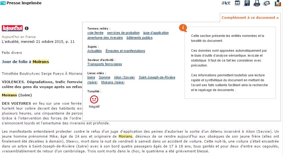 Europresse Analytik Presse Imprimée