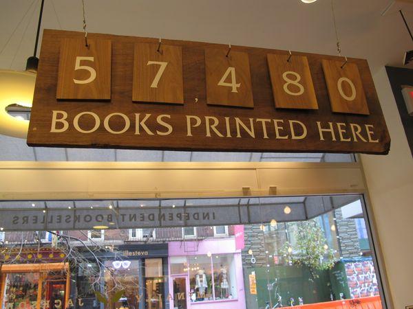 McNally Jackson, books printed, nov. 2015