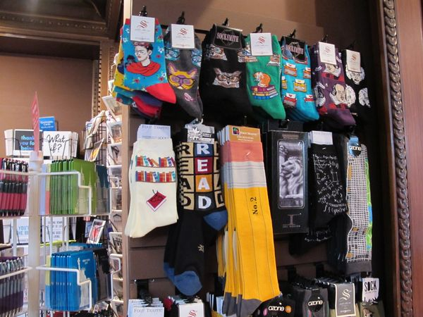 New York Public Library Shop, les chaussettes