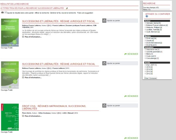 PMB affichage recherche version 4.2