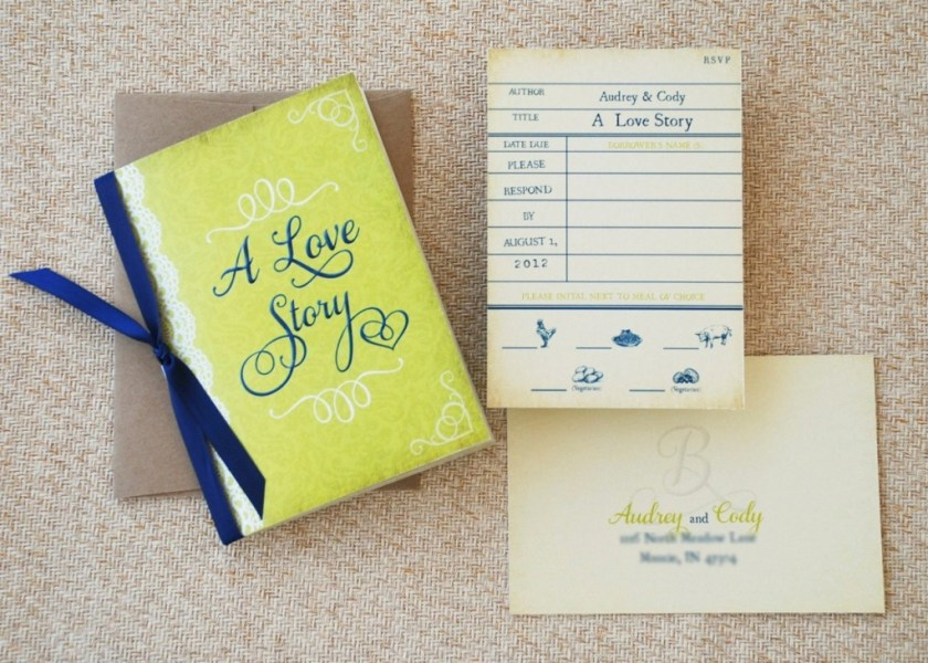 Booklet Wedding Invite Love Story