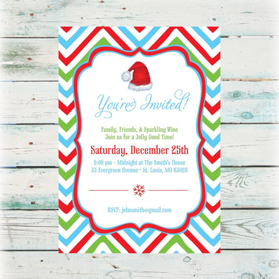 Christmas Hat Party Part - 16: Hat Party Invitations Promotion For Promotional