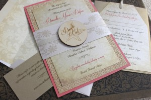 Vintage Wedding Invitation With Fl Wreath