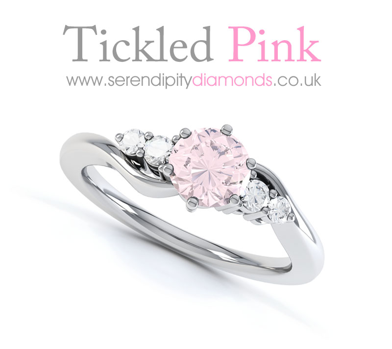 Tickled Pink For Diamond Engagement Rings