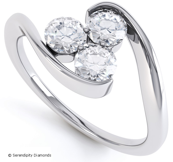 Diamond Trilogy Rings Elegance With A Twist