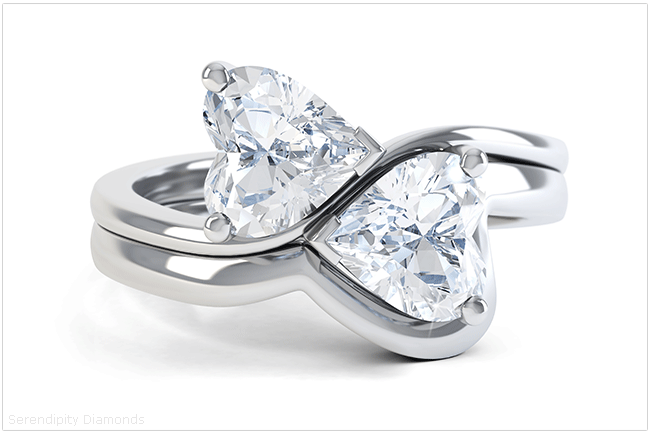 Heart Shaped Styling For Engagement Rings