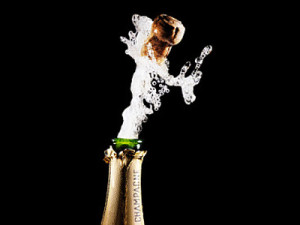 champagne-popping