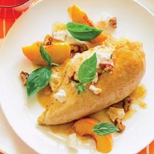 chicken-peaches