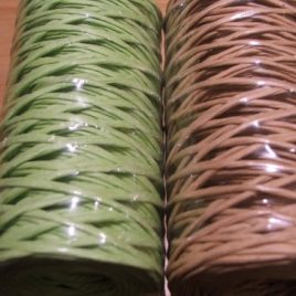 Paper Covered Wire Green & Beige
