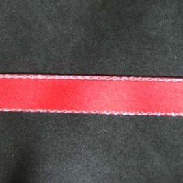 Silver Edge Red Satin