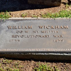 """The """"newer"""" and maybe incorrect plaque of William and/or John Wickham."""