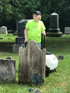 Our cemetery workshop leader, Marianne Greenfield.