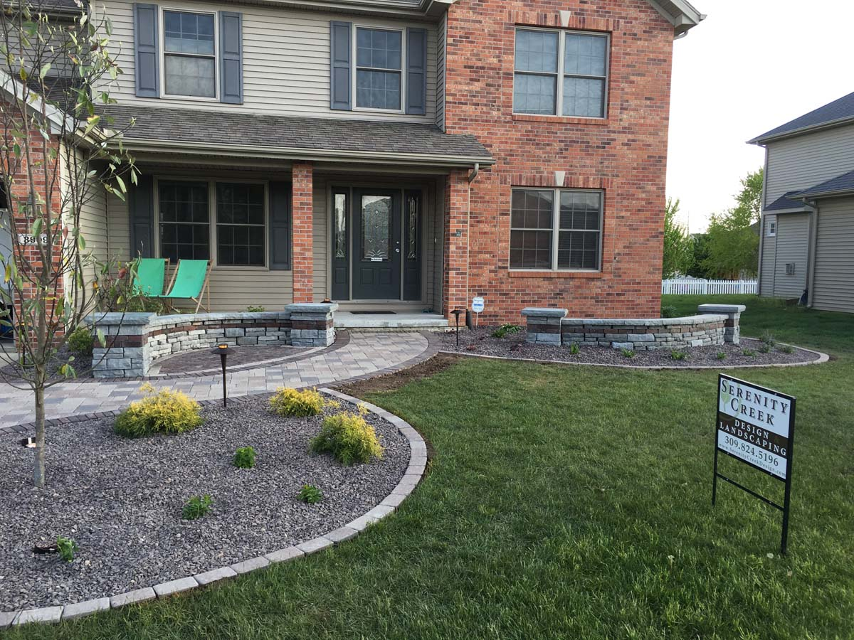 Front renovation with small seating area - Serenity Creek ... on Landscape Design Small Area id=70080